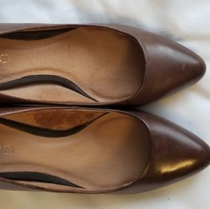 Womens Brown Leather Pumps - Size 7